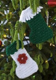 Tiny Stocking Ornaments Free Crochet Pattern