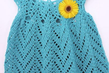 Tulip Chevrons Baby Dress Free Crochet Pattern