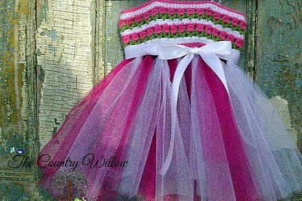 Tulips & Tulle Spring Tutu Free Crochet Pattern