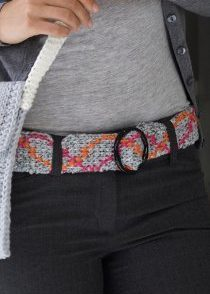Tunisian Belt Free Crochet Pattern