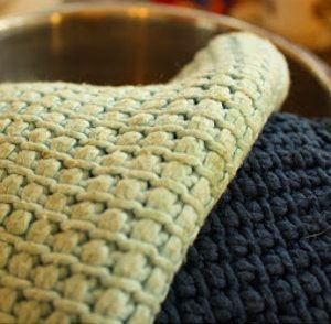 Tunisian Potholder Free Crochet Pattern