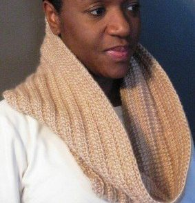 Tunisian Ribbed Cowl Free Crochet Pattern