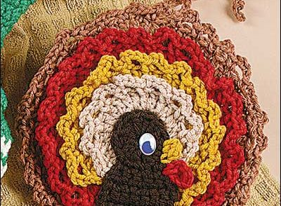 Turkey Towel Topper Free Crochet Pattern