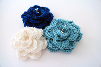 Two-Hour Crocodile Stitch Flower Free Crochet Pattern