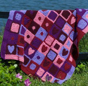 Valentine Hearts Afghan Free Crochet Pattern