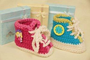 Vintage Baby Sneakers Free Crochet Pattern