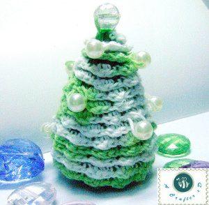 Vintage Pearl Pine Tree Decoration Free Crochet Pattern