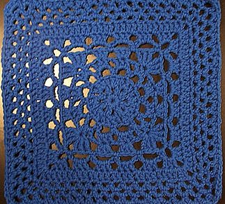 Wheel Lattice Granny Square Free Crochet Pattern