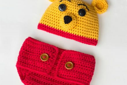 Winnie The Pooh Inspired Hat & Diaper Cover Set Free Crochet Patterns