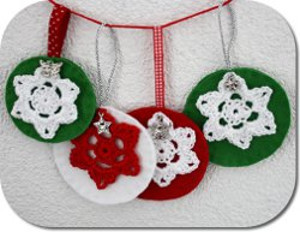 Winter Wonderland Ornaments Free Crochet Pattern
