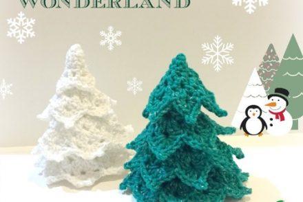 Winter Wonderland Tabletop Trees Free Crochet Pattern