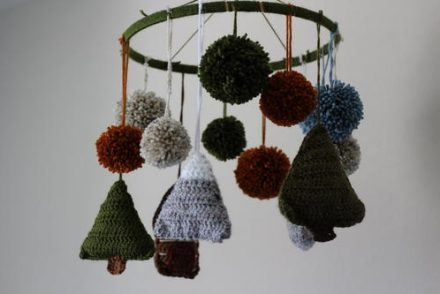 Woodland Baby Mobile Free Crochet Pattern