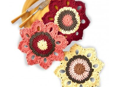 Woodsy Sunflower Dishcloths Free Crochet Pattern