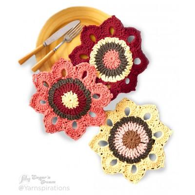 Woodsy Sunflower Dishcloths Free Crochet Pattern